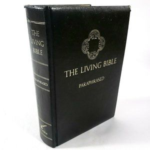 The Living Bible TYNDALE Paraphrased Padded 1974